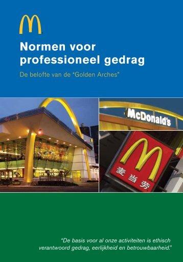 Normen voor professioneel gedrag - McDonald's