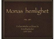 Monas hemlighet - Knutbyskolan