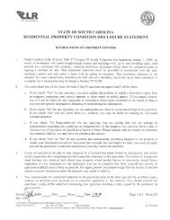 SC Residential Property Condition Disclosure Statement