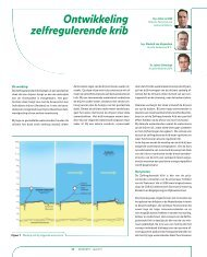 Geokunst: Ontwikkeling zelfregulerende krib - GeoTechniek