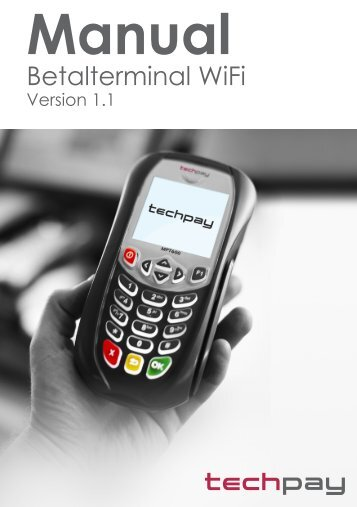 Betalterminal MPT610 WiFi - TechPay