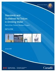 Standards and Guidelines for Tritium in Drinking Water