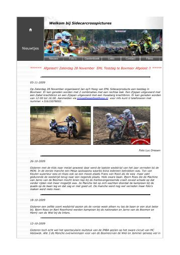 Nieuws archive 2009 - Sidecarcrosspictures