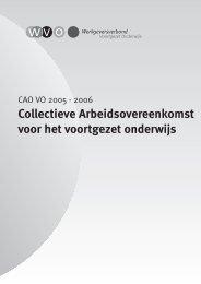 Collectieve Arbeidsovereenkomst voor het voortgezet ... - VO-raad
