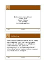 Elektronische nieuwsbrieven 16 juni 2009 Kortom - Brussel Jan Van ...