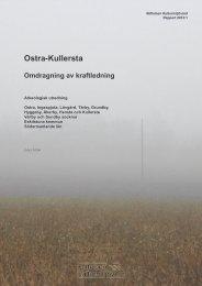 Stiftelsen Kulturmiljövård Rapport 2013:1 - KMMD
