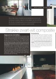Strakke zwart wit compositie - Architect Francisca Hautekeete