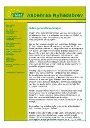 Aabenraa Nyhedsbrev - Tv-Glad Aabenraa
