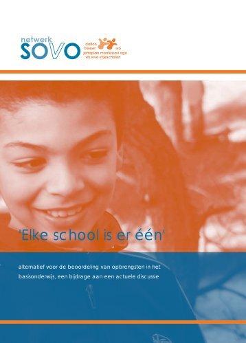 'Elke school is er één' - Netwerk SOVO