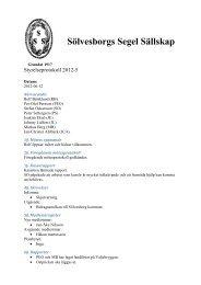 Protokoll från styrelsemöte