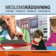 MEDLEMSRÅDGIVNING - LO Faglige Seniorer