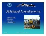 presentation - Sällskapet Castellanerna