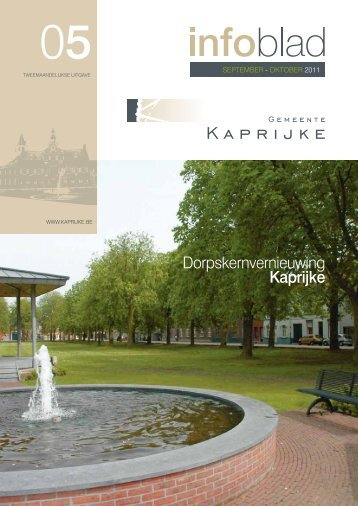infoblad september - oktober 2011 - Gemeente Kaprijke