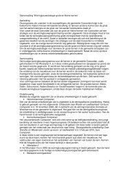 Samenvatting 'Woningbouwstrategie grote en kleine kernen ...