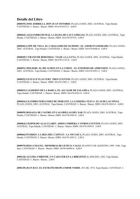 Catalogo De Libros En Ventas Libreria Chatulani