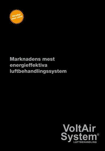 Marknadens mest energieffektiva ... - VoltAir System