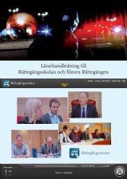 Lärarhandledning till Rättegångsskolan och filmen Rättegången