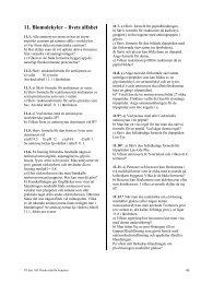 11. Biomolekyler – livets alfabet