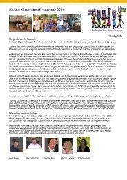 Karibu Nieuwsbrief: voorjaar 2013 - Stichting Karibu