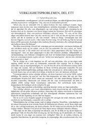 1. verklighetsproblemen, del ett - Henry T. Laurency Publishing ...