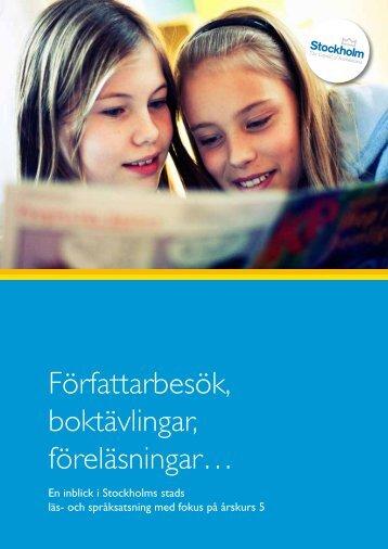 Författarbesök, boktävlingar, föreläsningar… - Pedagog Stockholm