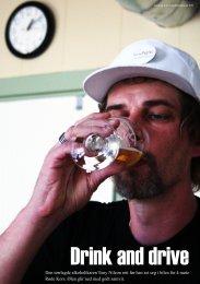 Den tørrlagde alkoholikaren Tony Nilzon rett før han set seg i bilen ...