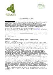 Nieuwsbrief februari 2010 - Stichting Abdo