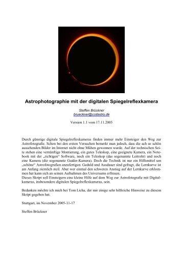 Astrofotografie mit der digitalen Spiegelreflexkamera - Astro-Swiss