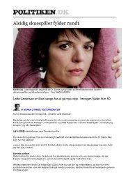 Alsidig skuespiller fylder rundt - Politiken - Lotte Andersen