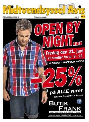 Fredag den 21. juni ÷25%på ALLE varer - Midtvendsyssel Avis