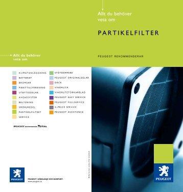 partikelfiltret - Peugeot