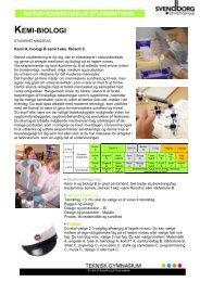 Faktaark om Kemi - Biologi studieretningen