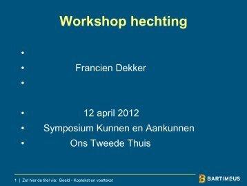 9. Meerjarenonderzoek VU Amsterdam - Symposium Kunnen en ...