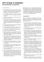 2013 strategi- & arbejdsplan - Sammenslutningen af lokalarkiver