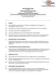 Wedstrijdbepalingen Nederlands Kampioenschap georganiseerd ...