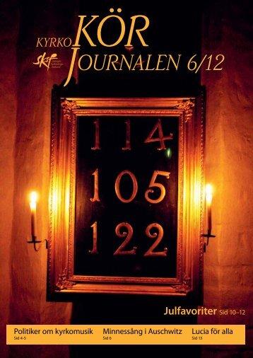 Nr 6/2012 - Sveriges Kyrkosångsförbund