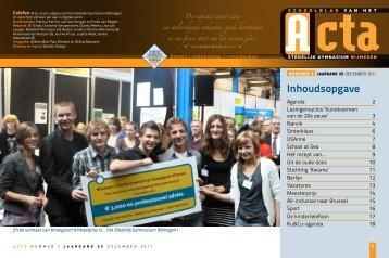 Acta - Stedelijk Gymnasium Nijmegen