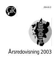 Årsredovisning 2003.pdf - GR Utbildning