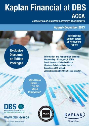 Download August-December 2013 brochure - Dublin Business School