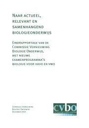 Naar actueel, relevant en samenhangend biologieonderwijs