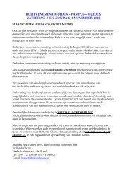 ROEIEVENEMENT MUIDEN – PAMPUS ... - Hollands Glorie