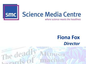 Fiona Fox - All-Party Parliamentary Group on Science & Technology ...