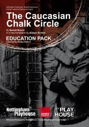 The Caucasian Chalk Circle - Shared Experience