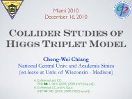 COLLIDER STUDIES OF HIGGS TRIPLET MODEL