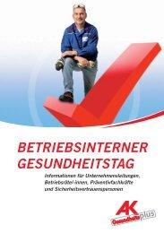 BETRIEBSINTERNER GESUNDHEITSTAG - Arbeiterkammer