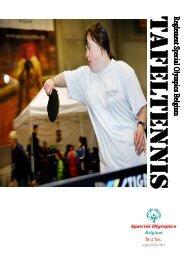 Tafeltennis Reglement - Special Olympics Belgique