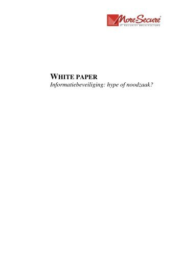 WHITE PAPER - More Secure