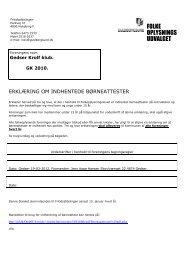 Erklæring om børnesttester - Guldborgsund Kommune