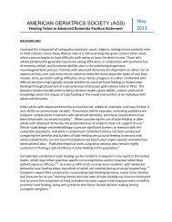 Feeding Tubes in Advanced Dementia - American Geriatrics Society