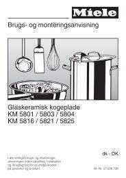 Brugs- og monteringsanvisning Glaskeramisk ... - Hvidt & Frit